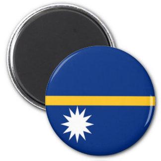 Flag of Nauru 2 Inch Round Magnet