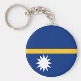 Flag of Nauru Basic Round Button Keychain
