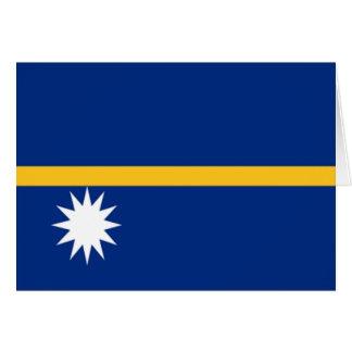 Flag of Nauru Card