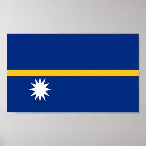 Flag of Nauru Poster