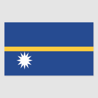 Flag of Nauru Rectangular Sticker