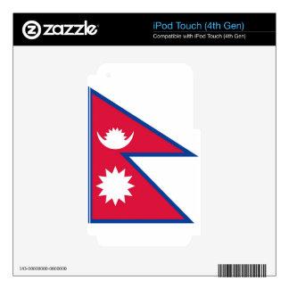 Flag of Nepal - नेपालको झण्डा iPod Touch 4G Skin
