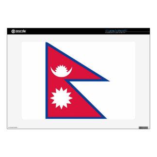 "Flag of Nepal - नेपालको झण्डा Skin For 15"" Laptop"