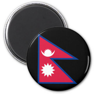 Flag of Nepal 2 Inch Round Magnet