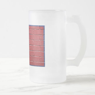 Flag of Nepal Frosted Glass Beer Mug