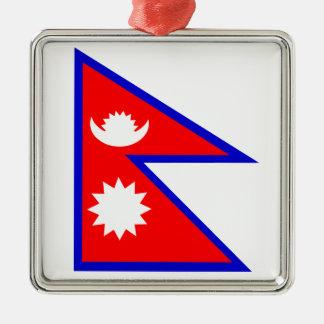 Flag of Nepal Metal Ornament