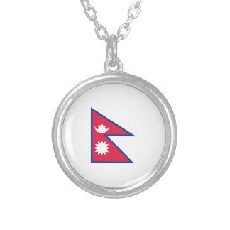 FLAG OF NEPAL ROUND PENDANT NECKLACE