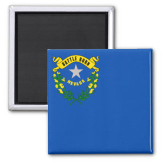 Flag of Nevada 2 Inch Square Magnet