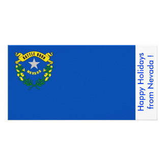 Flag of Nevada, Happy Holidays from U.S.A. Card