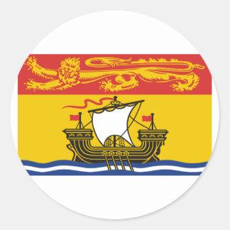 Flag of New Brunswick, Canada Classic Round Sticker