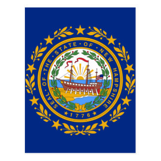 Flag of New Hampshire Postcard