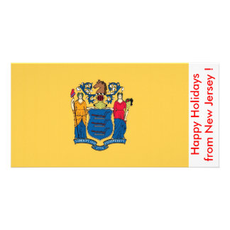 Flag of New Jersey, Happy Holidays from U.S.A. Card