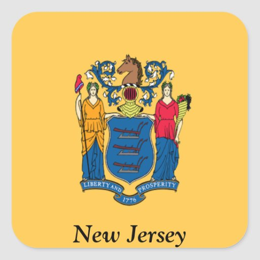Flag of New Jersey Square Sticker
