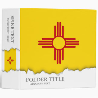 Flag of New Mexico Binder