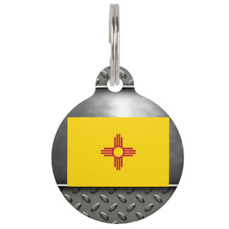Flag of New Mexico Pet Name Tag