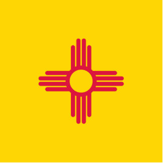 Flag of New Mexico Statuette