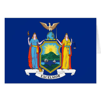 Flag of New York Greeting Cards