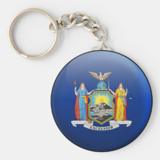 Flag of New York Keychain