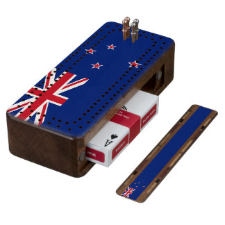 Flag of New Zealand Cribbage Board