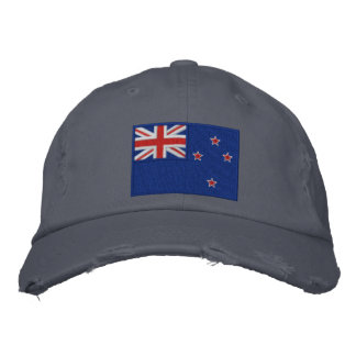 Flag of New Zealand Embroidered Baseball Cap