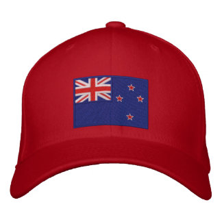 Flag of New Zealand Embroidered Baseball Hat
