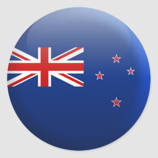 Flag of New Zealand Round Sticker