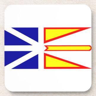 Flag of Newfoundland and Labrador, Canada. Coaster