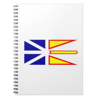 Flag of Newfoundland and Labrador, Canada. Notebook