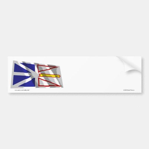 Flag of Newfoundland, Canada Car Bumper Sticker