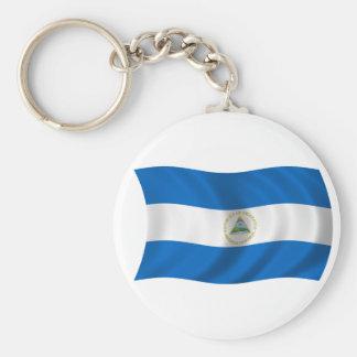 Flag of Nicaragua Basic Round Button Keychain