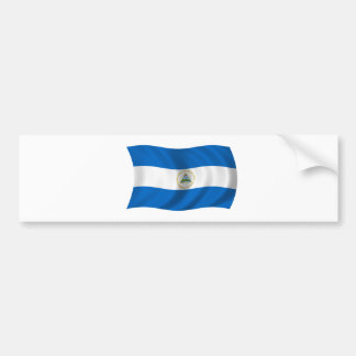 Flag of Nicaragua Car Bumper Sticker