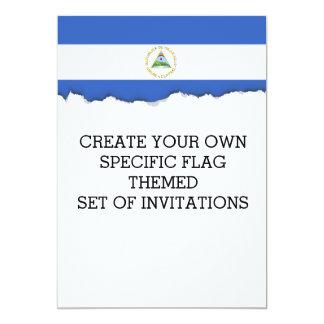 Flag of Nicaragua Card
