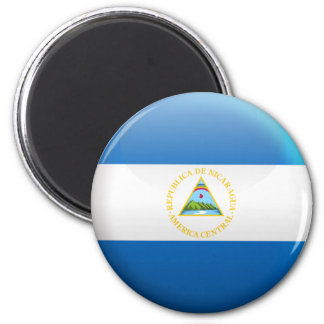 Flag of Nicaragua 2 Inch Round Magnet