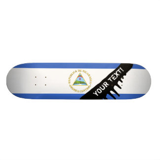 Flag of Nicaragua Skateboard