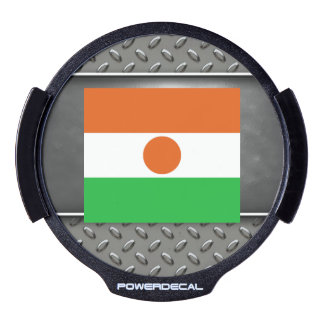 Flag of Niger LED Car Window Decal