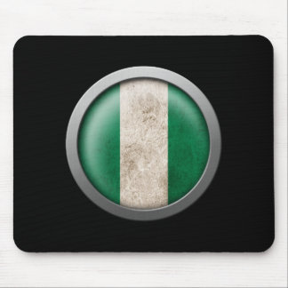 Flag of Nigeria Disc Mouse Pad