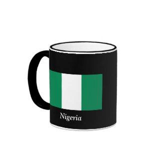 Flag of Nigeria Ringer Coffee Mug