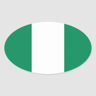 Flag of Nigeria Oval Sticker