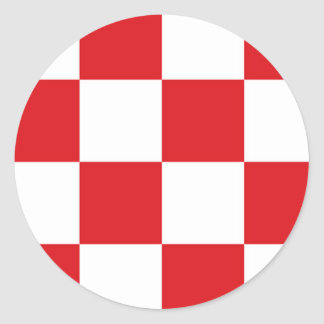 Flag of North Brabant Classic Round Sticker