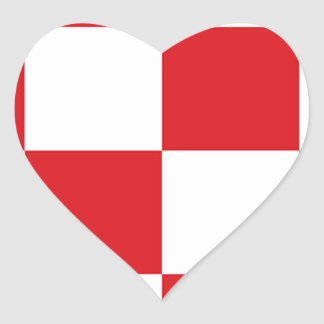 Flag of North Brabant Heart Sticker