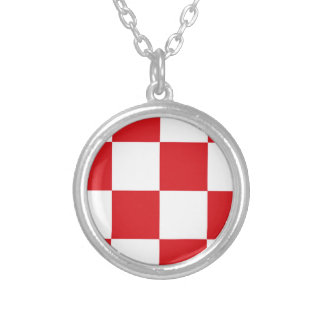 Flag of North Brabant Silver Plated Necklace