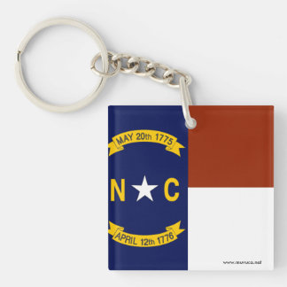 Flag of North Carolina Keychain