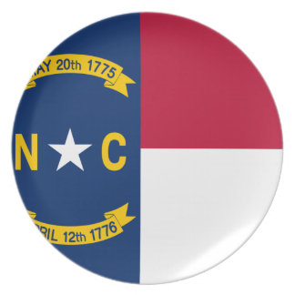 Flag of North Carolina Party Plate