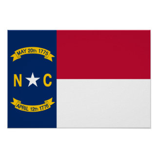 Flag of North Carolina Poster