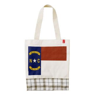 Flag of North Carolina Zazzle HEART Tote Bag