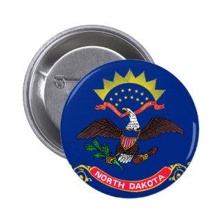 Flag of North Dakota Button
