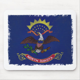 Flag of North Dakota Mouse Pads