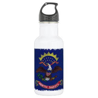 Flag of North Dakota Stainless Steel Water Bottle