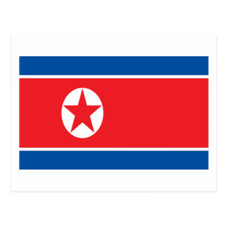 Flag of North Korea Post Card