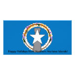 Flag of Northern Mariana Islands Personalized Photo Card